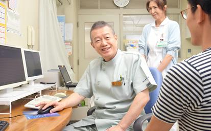 医師による診察を行います